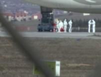 SAĞLIK EKİBİ - Ankara'da Tahran'dan gelen uçakta corona virüsü alarmı