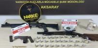 YAKALAMA KARARI - Aksaray'da Polisin Operasyonunda Uyuşturucu Ve Silah Ele Geçirildi