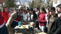 İNSANSIZ HAVA ARACI - Jandarmanın Operasyon Köpeği 'Çaki'dan Rehine Kurtarma Tatbikatı