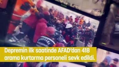 AFAD, Elazığ Depreminin Ardından Yapılan Çalışmaları Paylaştı