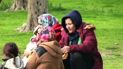 Avrupa'ya Gitmek İsteyen Bir Grup Düzensiz Göçmen Çanakkale Sahiline Geldi