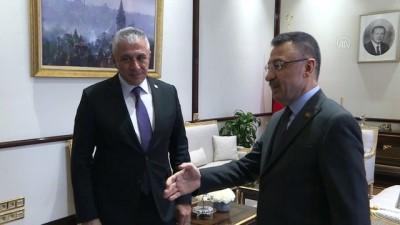 Cumhurbaşkanı Yardımcısı Oktay, KKTC Ekonomi Ve Enerji Bakanı Taçoy'u Kabul Etti