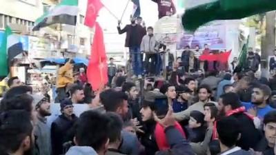 İdliblilerin Türkiye'ye Destek Gösterileri Sürüyor