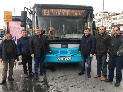 Özel Halk Otobüsü Şoförleri Araçlarına Siyah Kurdele Bağlayarak Şehitleri Andı