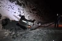 Pekün Dağı Geçidinde Otomobil Takla Attı Açıklaması 3 Yaralı