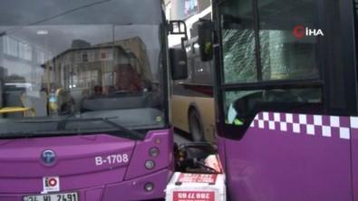 Sarıyer'de 3 Otobüs İle Motosikletin Karıştığı Zincirleme Kaza Açıklaması 3 Yaralı