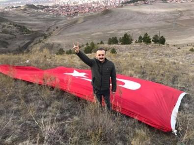 Sungurlu'da Manastır Tepesine Türk Bayrağı