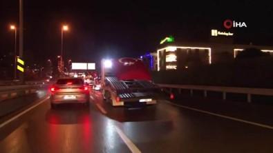 Trafik Çekicileri Mehmetçik İçin Yollara Çıktı