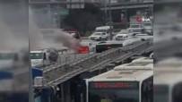 POLİS - Araç Yangını E-5'Te Trafiği Durma Noktasına Getirdi