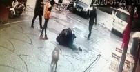 (Özel) Tuzla'da İki Gencin Sokak Ortasında Tekmeli Yumruklu Kavgası Kamerada