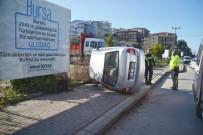 DİREKSİYON - Takla Atan Araçtan Sağ Kurtuldu