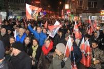 EDREMIT BELEDIYESI - Edremit'te 'Bayrağa Saygı Yürüyüşü'