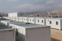 Elazığ'da Konteyner Kent Çalışmaları Aralıksız Sürüyor