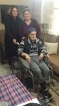 TEKERLEKLİ SANDALYE - Yaşlı Adam Tekerlekli Sandalyesine Kavuştu