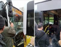 CEVIZLIBAĞ - İstanbul'da iki metrobüs çarpıştı