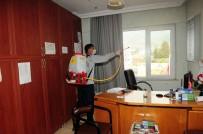 Kemer'de Muhtarlıklar, Otogar Ve Taksi Duraklarında Dezenfekte