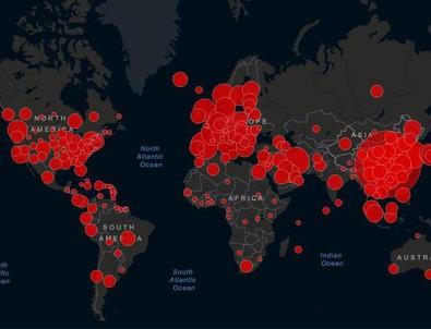Dünya genelinde koronavirüs vaka sayısı