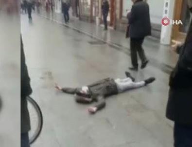 Caddede bir anda yere yığıldı! O şehirde korona paniği