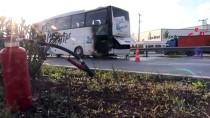 YOLCU OTOBÜSÜ - Manisa'da Yolcu Otobüsündeki Yangın Paniğe Neden Oldu