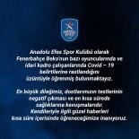 ANADOLU EFES - Anadolu Efes'ten Fenerbahçe'ye Geçmiş Olsun Mesajı
