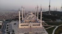 ÇAMLICA CAMİİ - Miraç Kandili'nde Çamlıca Camii Havadan Görüntülendi