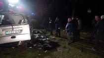 ADAKÖY - Samsun'da Hafif Ticari Araç Devrildi Açıklaması 1 Ölü, 2 Yaralı