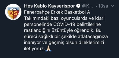 Fenerbahçe'ye Geçmiş Olsun Mesajı
