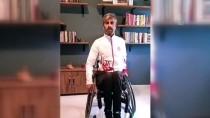 TEKERLEKLİ SANDALYE - Bedensel Engelli Sporculardan 'Evde Kal' Çağrısı