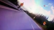 KAYAŞEHİR - Boş Yolda Köpeğe Çarpan Motosiklet Sürücüsü Ölüm İle Burun Buruna Geldi