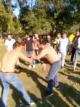 HAYALET - (Özel) İstanbul'da Gençler 'Evde Kalın' Uyarısına Rağmen Ormanda Güreş Tuttular