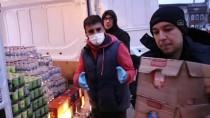 SINIR KAPISI - AFAD, Kapıkule'den Türkiye'ye Giriş Yapan Tır Şoförlerine Kumanya Dağıttı