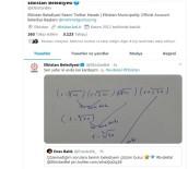MATEMATIK - Çözemediği Soruyu Tweet Attı, Belediye Cevapladı