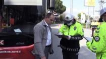 OTOBÜS TERMİNALİ - Manisa'da Yolcu Otobüslerine Koronavirüs Denetimi
