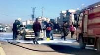 VİRANŞEHİR - Şanlıurfa'da Seyir Halindeki Araç Alev Aldı