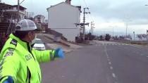 KARADENIZ SAHIL YOLU - Sokağa Çıkması Kısıtlanan Vatandaşlar Dron İle Denetlendi