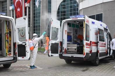 Ambulanslar Dezenfekte Ediliyor