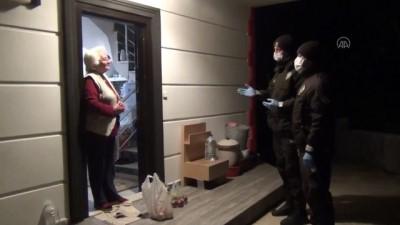 Balıkesir'de Kovid-19 Önlemleri Dolayısıyla Yaşlı Vatandaşın Alışverişini Bekçiler Yaptı