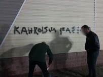ATATÜRK BULVARI - Cami Ve Kurum Duvarına Yazılan Yazıları Polis Sildi