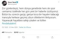 ERSUN YANAL - Ersun Yanal'dan 'Evde Kal' Çağrısı