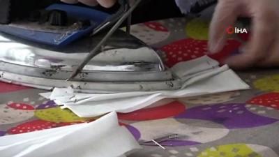 Muş'ta Kadınlar Gönüllü Olarak Maske Üretimine Başladı