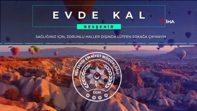 Nevşehir Emniyet Müdürlüğünden 'Evde Kal' Klibi