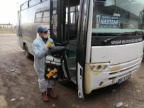 NEVŞEHİR BELEDİYESİ - Toplu Taşıma Araçları Ve Duraklar Virüslere Karşı İlaçlanıyor
