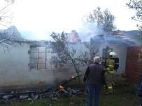 ZEYTINLIK - Yakılan Ateş Evin Çatısını Yaktı