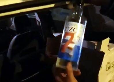 Gaziantep'te 112 Şişe Sahte Alkol Ele Geçirildi