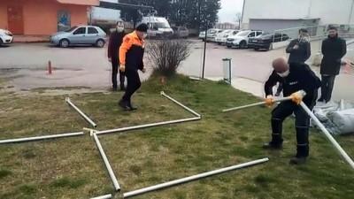 Kırklareli'nde Koronavirüs Tespitinde İlk Değerlendirme AFAD Çadırlarında Yapılacak