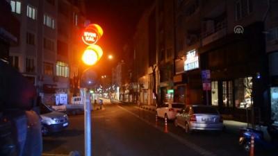 Kırklareli'nde Trafik Işıklarıyla 'Evde Kal' Çağrısı