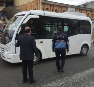 Muş'ta Toplu Taşıma Araçlarında Mesafe Denetimi