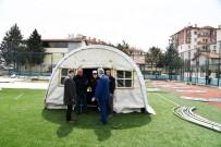 TATBIKAT - Isparta Belediyesi'nden Çadır Kurulumu Tatbikatı