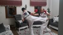 HUKUK FAKÜLTESI - Ispartalı Karateciler Antrenmaları Eve Sığdırdı