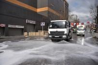 TUZLA BELEDİYESİ - Tuzla'da Korona Virüsüne Karşı Temizlik Çalışmaları Hız Kesmeden Devam Ediyor